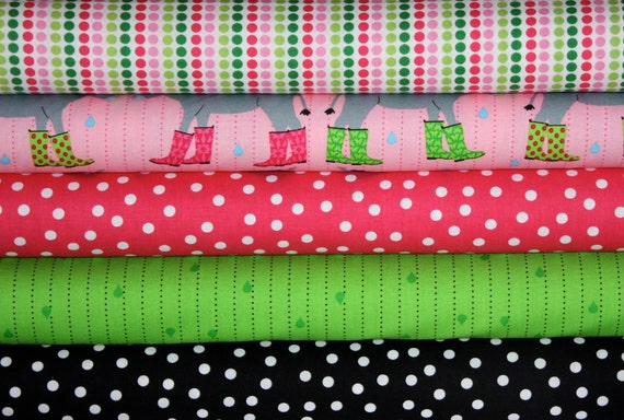 Girl Jack & Jenny  by Laurie Wisburn for Robert Kaufman- Yard Bundle- 5 total