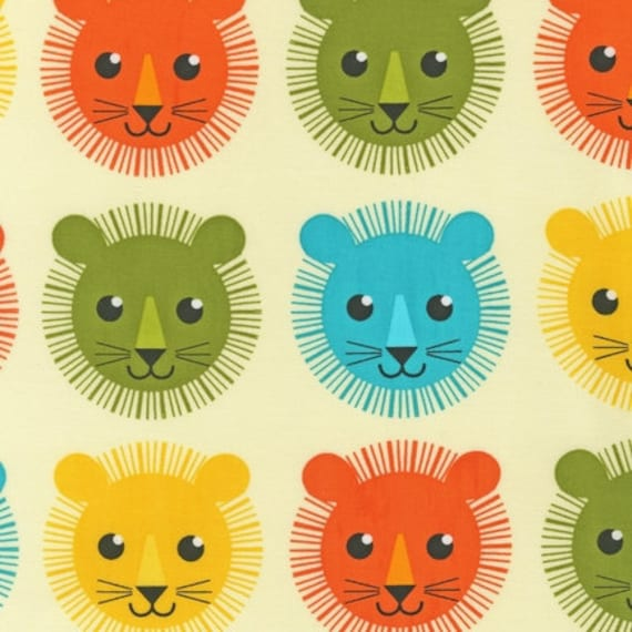Roar fabric by Print and Pattern for Robert Kaufman, Roar Mane Lion in Bermuda-Fat Quarter