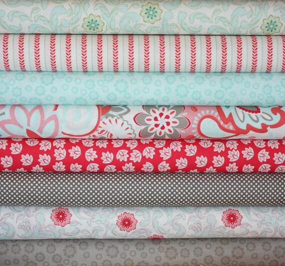 Verona Fabric by Emily Taylor Designs for Riley Blake-1/2 Yard Bundle, 8 total