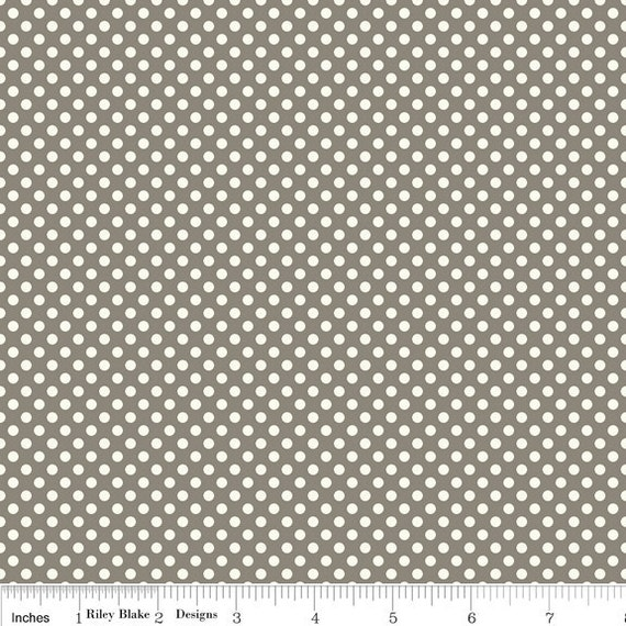 Verona Fabric by Emily Taylor Designs for Riley Blake, Dots in Gray-1 Yard