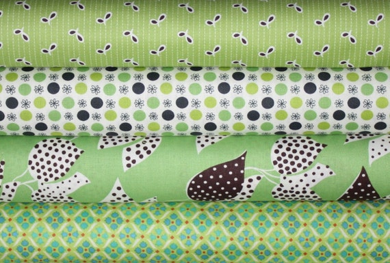 Flea Market Fancy Legacy Collection by Denyse Schmidt for Free Spirit. 1/2 Yard Bundle, 4 Total