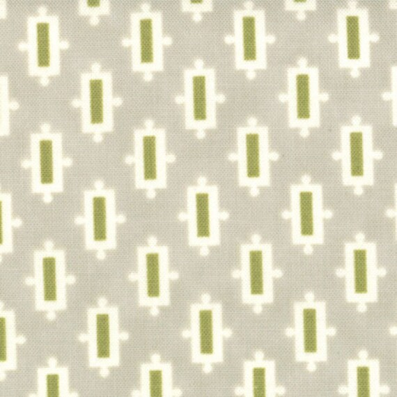SALE Vintage Modern by Bonnie and Camille fabric for Moda, Snickerdoodle in Pebble Grey-1 Yard