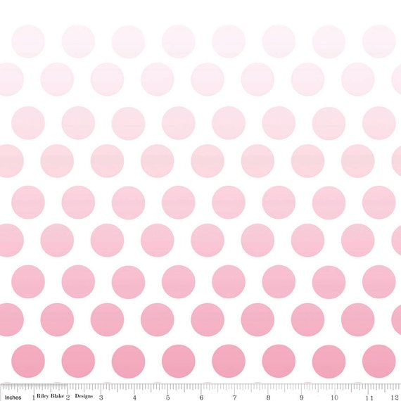 SALE Ombre Dots Fabric by Riley Blake Designs, Ombre Dots in Hot Pink-1 Yard or by the yard
