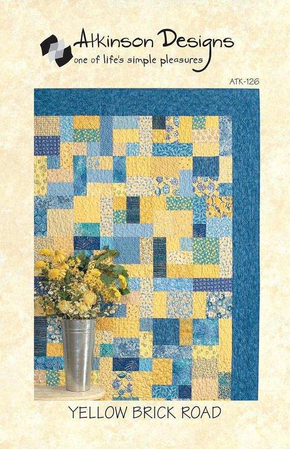 SALE Atkinson Designs Quilt  Pattern-Yellow Brick Road Quilt