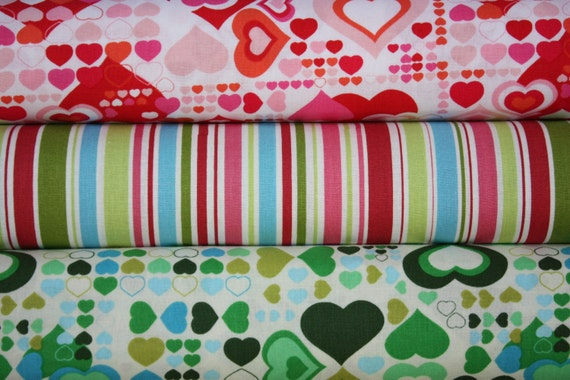 Retro Love Combo for the Modern Crafter- 1\/2 Yard Bundle