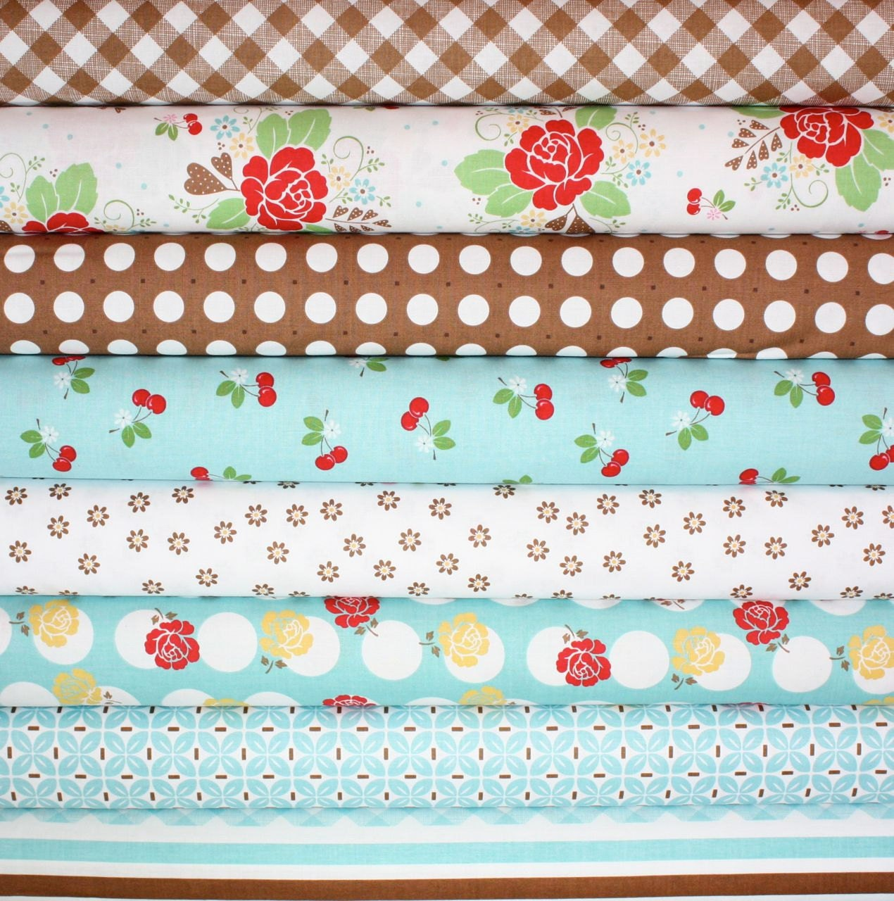 Last one sale sew cherry fabric by lori holt for riley blake for Sewing material for sale