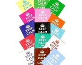 Keep Calm and Carry On, 8 Postcard Set, Choose Colors