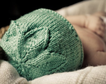 Star Flower Hat - Baby Cakes by lisaFdesign - Knitting Pattern - Download Now - Pattern PDF