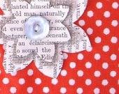 6 Vintage Paper Flowers