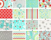 Custom for jojothedancer Baby Registry Harmony Red Turquoise & Green Boutique Crib Sheet