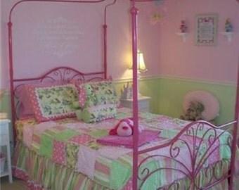 Custom Twin or Full Size Bedding Set Quilt/Duvet Dust Ruffle Shams
