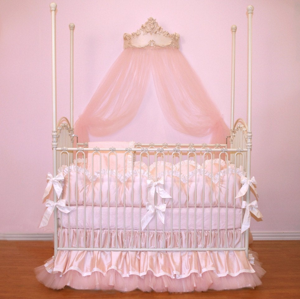 custom for pugred11 soft pink luxury posh baby nursery 4 piece. Black Bedroom Furniture Sets. Home Design Ideas