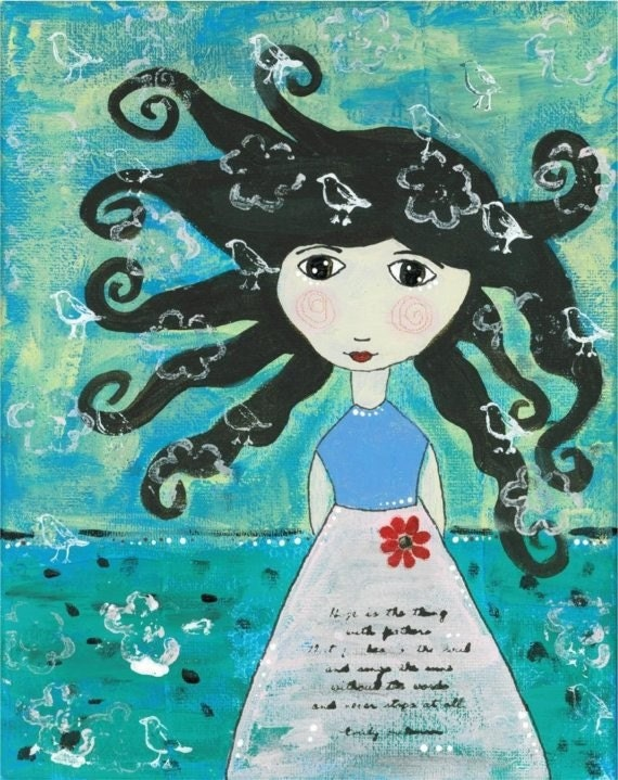 12 Sea Side Girl Postcards with Envelopes