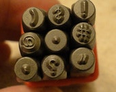 PUNCTUATION - 1/8 inch (3 mm) size - includes how to stamp metal tutorial