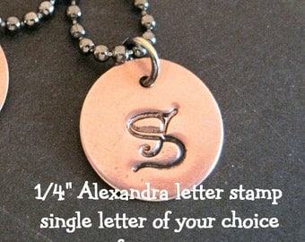 SINGLE LETTER - 1/4 inch (6mm) Monogram - ALEXANDRA font - you choose the letter - TrY OuT this font for minimal investment