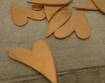 CRAZY 4 U HEART - copper stamping blanks - 18g - 1 1/4 inch (27mm) use in your jewelry and enameling projects