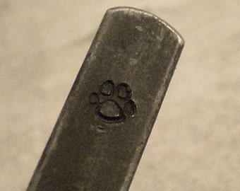 tiny Design Stamp - PUPPY PAW - includes How to Stamp Metal tutorial