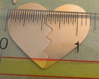 COPPER - Broken Heart - Best Friend - BFF Blanks - 24g - perfect for your enameling or metal stamping needs