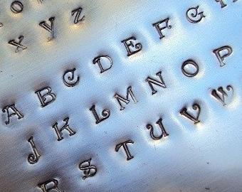 ALEXANDRA - custom font by WonderStruck Studios - 1/8 inch UPPERCASE steel letter set - includes tutorial, practice metal and box