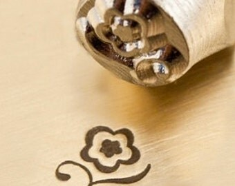 Design Stamp - BLOSSOM - 6mm stamped image by ImpressArt -  includes How to Stamp Metal tutorial