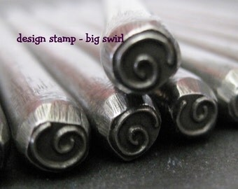 Design Stamp - BIG SWIRL - includes How to Stamp Metal tutorial