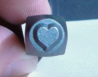 Design Stamp - SOLID HEART - 6mm stamped image by ImpressArt -  includes How to Stamp Metal tutorial