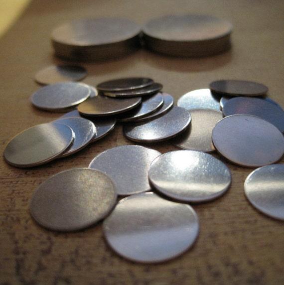 1/2 Inch (12.5mm) nICKEL sILVER Disks - qUANTITY 4 - 24g