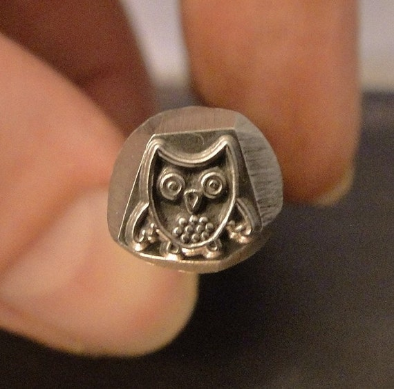 Big Design Stamp - OWL by WonderStruck Studios - 3/8 inch (9.5mm) - includes How to Stamp Metal tutorial