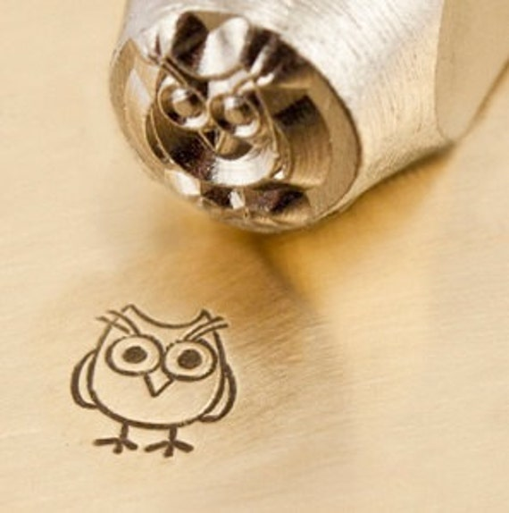 Design Stamp - HOOTIE the OWL - 6mm stamped image by ImpressArt -  includes How to Stamp Metal tutorial