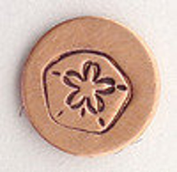Design Stamp - SAND DOLLAR - 6mm stamped image -  includes How to Stamp Metal tutorial