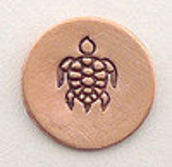 Design Stamp - SEA TURTLE - 6mm stamped image -  includes How to Stamp Metal tutorial