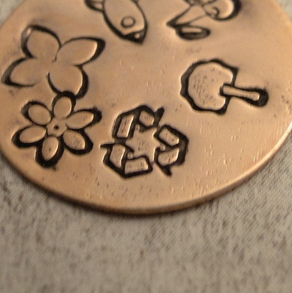Design Stamp - RECYCLE - includes How to Stamp Metal tutorial