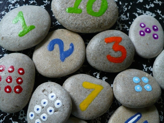 Special listing for Ann...8 sets of COUNTING ROCKS...a fun childrens math game