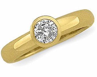 14k gold 1/2 carat diamond engagement ring.