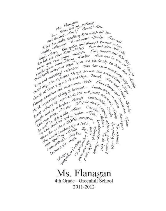 personalized teacher gift fingerprint design you by