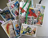 Superhero Tag/Bookmark Custom Made with Superheroes DC/Marvel