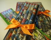Superhero Pencils (1 Set of 5 HB/No. 2 Pencils) Custom Superheroes DC/Marvel