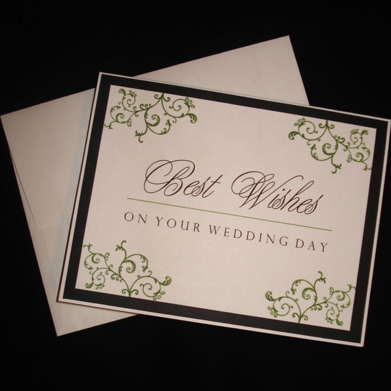 Best Time Of Day For Wedding: Best Wishes On Your Wedding Day . . . Black And Sage