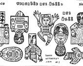 Wearable Art Dolls (unmounted rubber stamps)