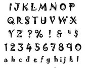 Unmounted Rubber Alphabet Stamps set 2