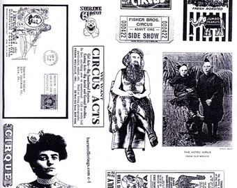 Circus Oddities (unmounted rubber stamps)