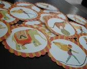 Vintage Circus Collection Tags