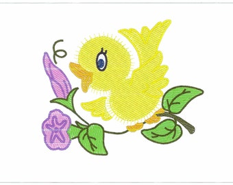 Machine Embroidery Design 03 Cute Chicks For Brother  Bernina  .pes