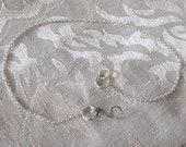 handmade sterling silver necklace extender bracelet converter chainger