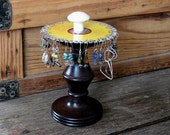 shabby chic earring holder jewelry organizer from vintage recycled parts