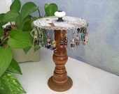 shabby chic handmade earring holder organizer display from vintage recycled parts