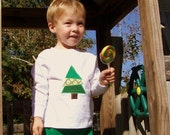 Christmas Tree Appliqued Tee Shirt and Corduroy Pants
