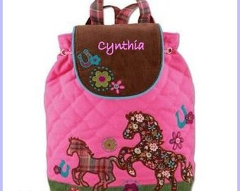 Personalized Stephen Joseph Signature Collection Horse Backpack