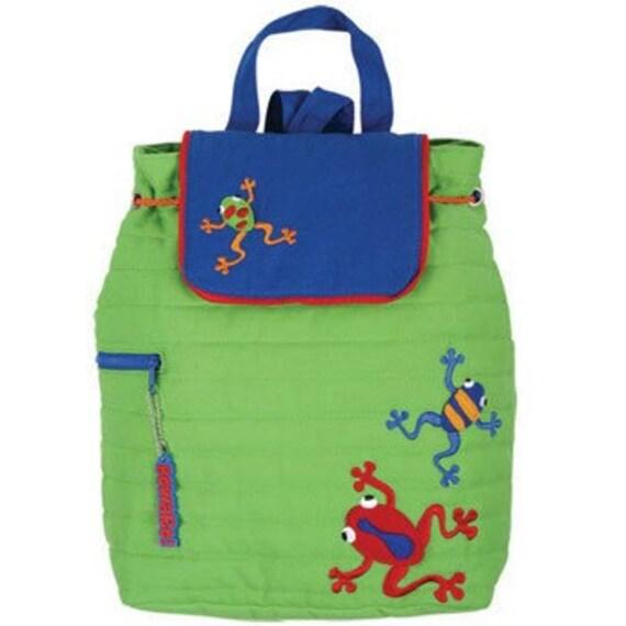Personalized Stephen Joseph Dart Frog Backpack