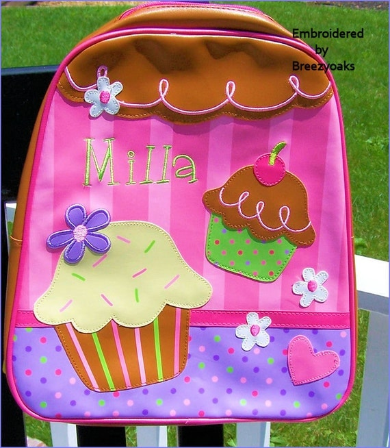 3 pc set Personalized Stephen Joseph Cupcake GoGo Bag